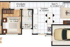نقشه ویلا یک طبقه