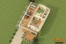 ایده پلان یک طبقه ویلایی