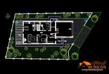 دانلود نقشه معماری ویلای دوبلکس