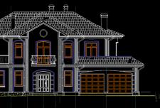 ایده نقشه ویلایی دو طبقه [ پلان نقشه خانه دو طبقه ویلایی ]