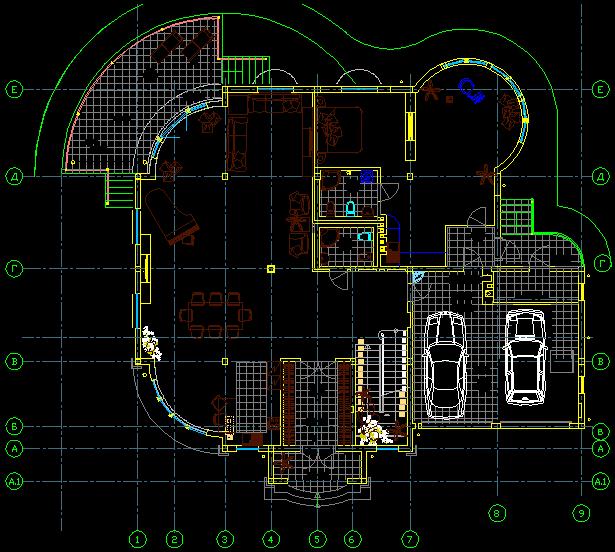 پلان دو طبقه ویلایی