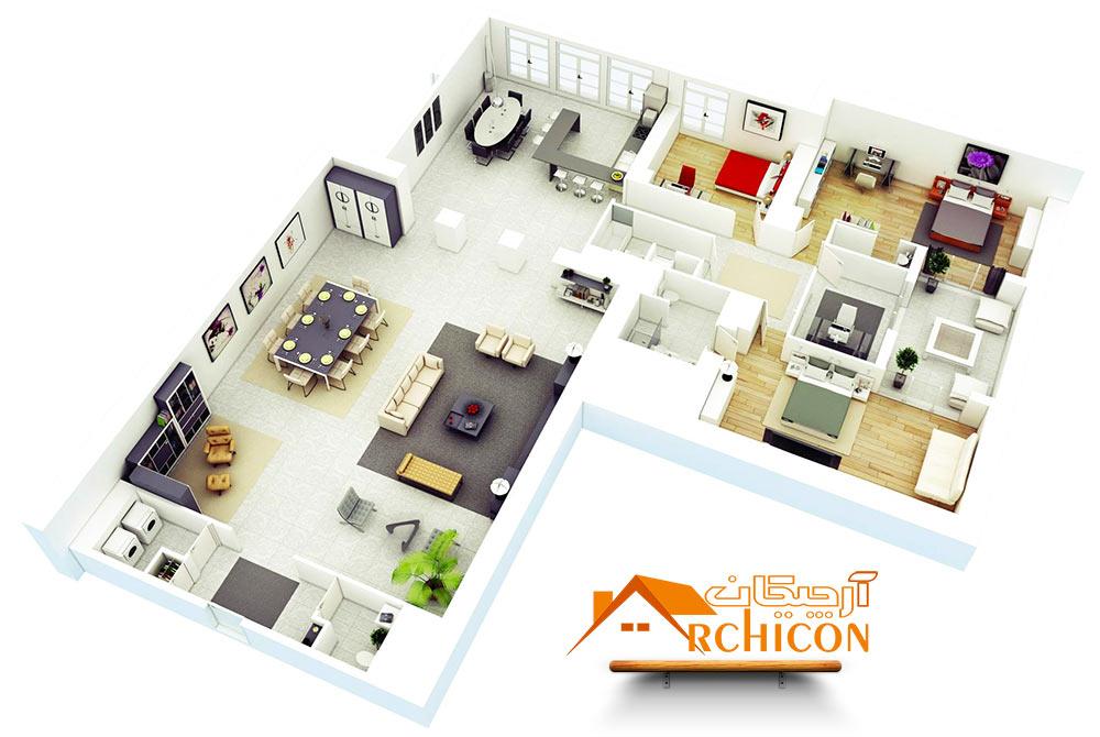 عرصه بندی فضاهای مسکونی