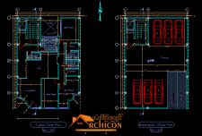 دانلود نقشه معماری ساختمان ۹ طبقه[ نقشه ۵طبقه مسکونی+همکف+سه طبقه زیرزمین ]
