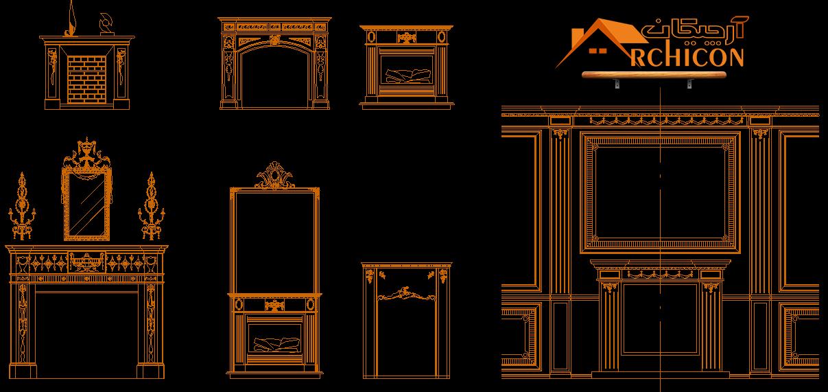 بلاک های مبلمان معماری