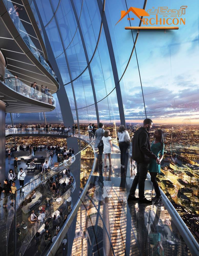 طرح معماری برج آموزشی لندن
