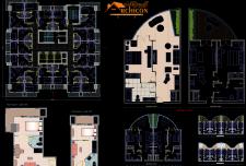 نقشه های معماری هتل