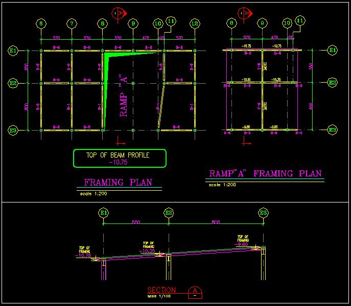 نقشه سازه رمپ