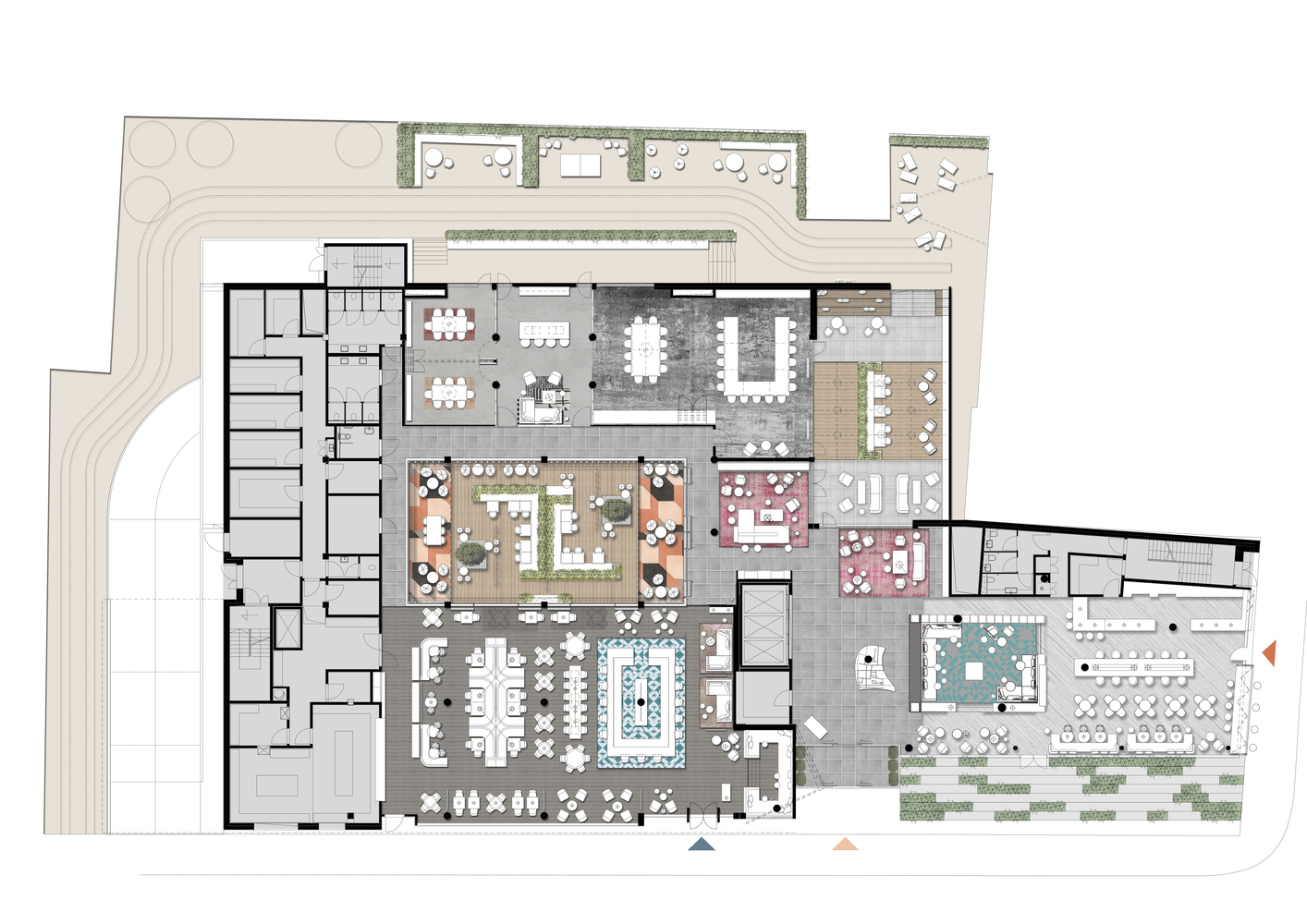 طرح معماری هتل