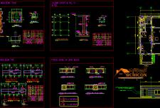 نقشه معماری و سازه یک طبقه