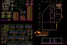 دانلود نقشه سازه بتنی ۱ طبقه pdf [ فونداسیون تیر ستون و معماری ]