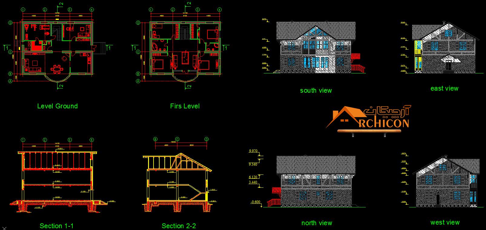 ایده ساختمان ویلایی
