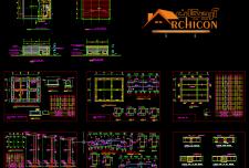 نقشه معماری و سازه ساختمان بتنی