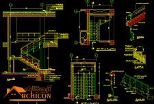 ضوابط راه پله در طراحی معماری [ ابعاد راه پله در پلان ]