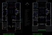نقشه معماری ویلای دو طبقه