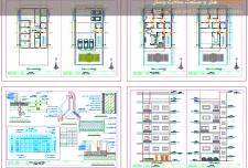 نقشه ساختمان مسکونی ۷ طبقه [ نقشه معماری ساختمان مسکونی ۷ طبقه ]