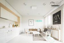 دکوراسیون داخلی خانه ۲۰ متری با چیدمان شیک و منحصر به فرد