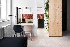 طرح دکوراسیون داخلی آپارتمان کوچک زیر ۴۰ متر مربع و پلان آن