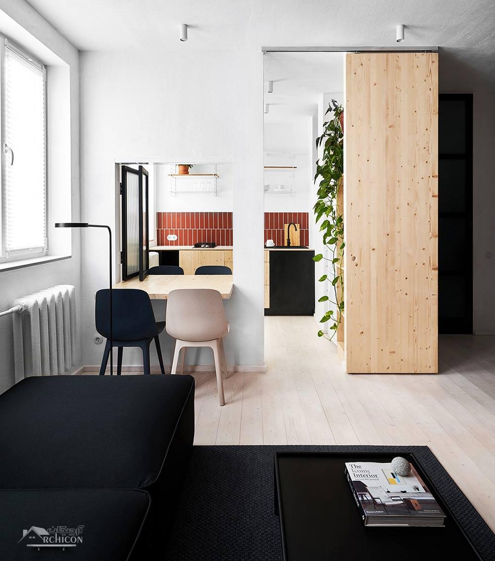 طرح دکوراسیون داخلی آپارتمان کوچک