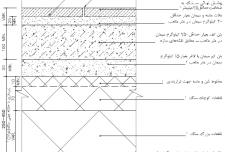 نقشه جزئيات پوشش سنگ کف
