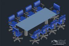دانلود رایگان آبجکت های سه بعدی اتوکد [ سه بعدی اتوکد شامل میز ، صندلی ، اداری ]
