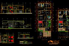 نقشه ساختمان مسکونی دو طبقه ویلایی [دوبلکس متراژ بالا ]