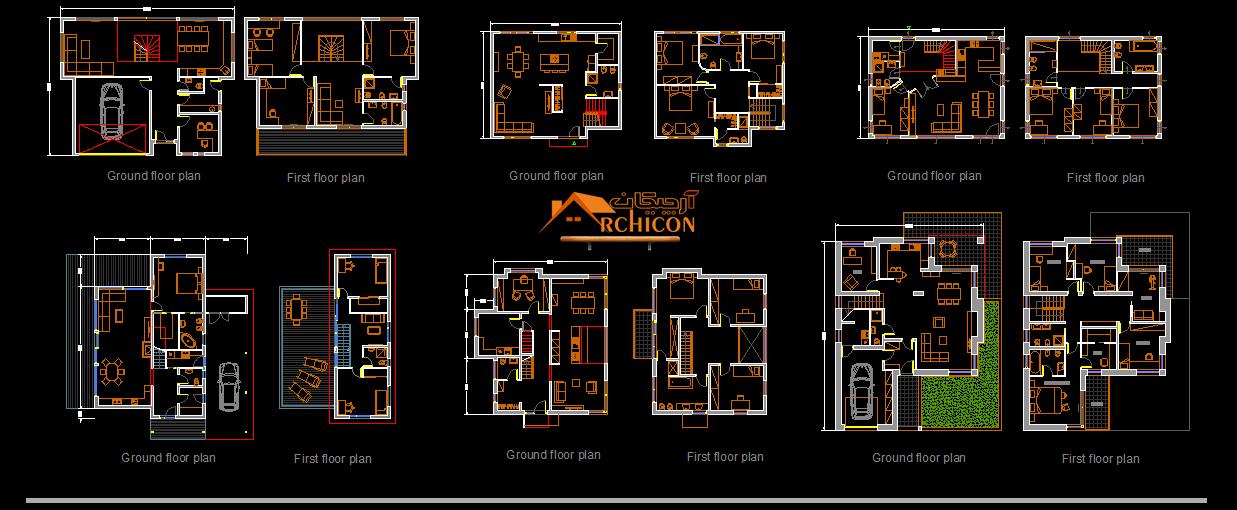 ایده پلان ویلایی دو طبقه ساده