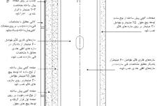 نقشه جزئیات دیوار پیش ساخته با پوشش کاشی [اجرای صفحات گچی پیش ساخته]