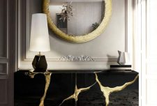 آینه و میز کنسول مدرن