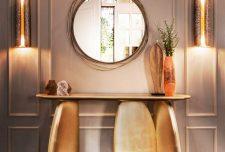 ۲۵ ایده جدید آینه و میز کنسول مدرن برای دکوراسیون لوکس