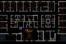 نقشه های معماری خوابگاه دانشجویی [ پلان مربع ، مستطیل و دایره شکل ]