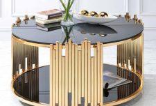 ۵۱ مدل جدید مدل میز جلو مبلی شیشه ای با قاب فلزی و چوبی