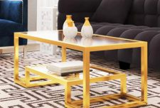مدل میز جلو مبلی شیشه ای