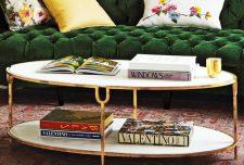 ۵۱ نوع از جدیدترین مدل میز جلو مبلی بیضی شکل با جنس و رنگ متفاوت